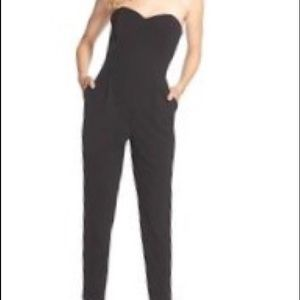 Black H&M strapless Jumpsuit